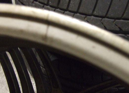 Cracked Alloy Wheel